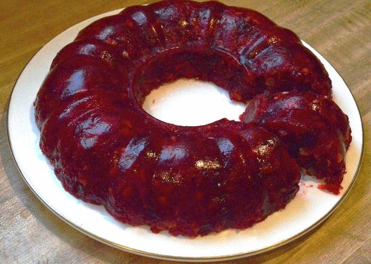 Mom's Cranberry Jello Mold