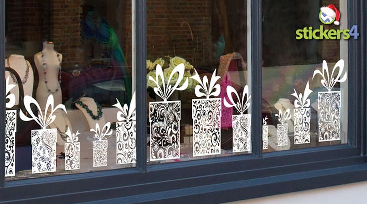 Classic Presents Cling Window Border for Christmas Windows | Christmas Scenes and Borders Shop Window Stickers | Christmas Window Stickers | Stickers4