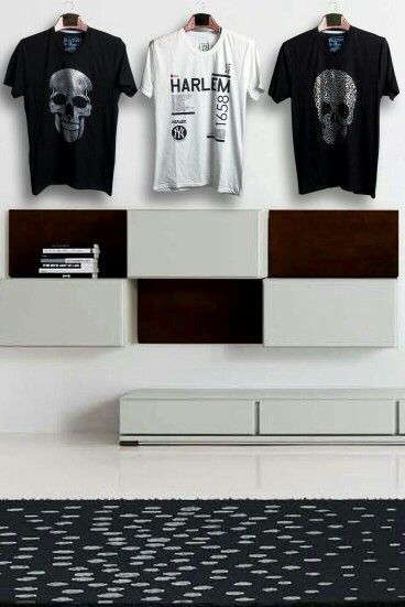 Interior design for clothing and nice t-shirt design