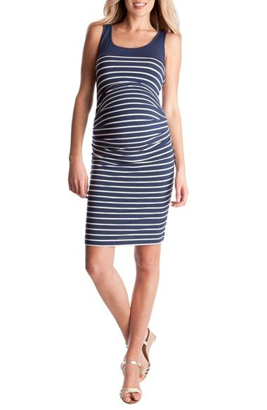 Seraphine Stripe Maternity Dress available at #Nordstrom