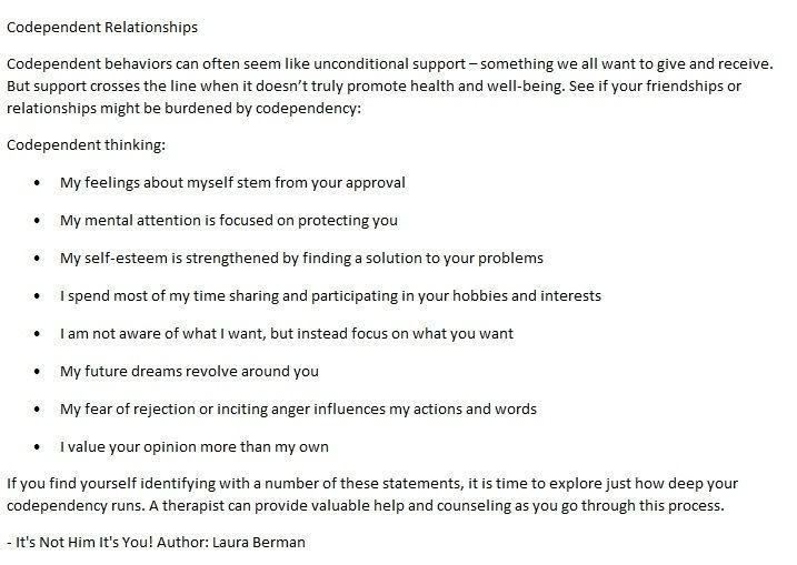 self help emotional dependency relationship