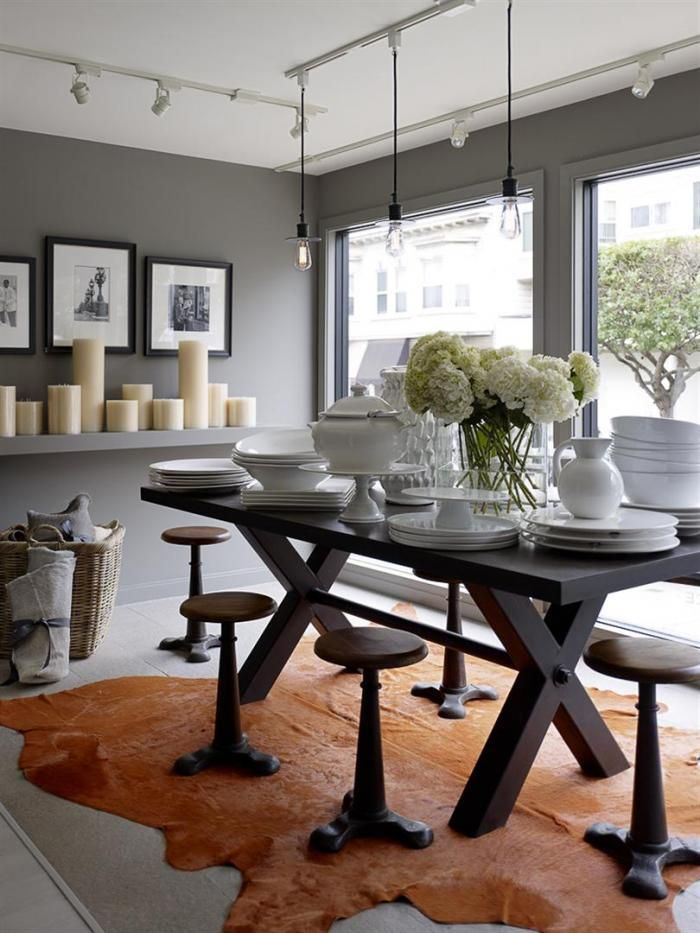 love the candle shelf with the art behind it - image from Hudson Grace Housewares in SF