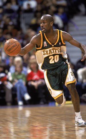 Seattle Sonics' Gary Payton