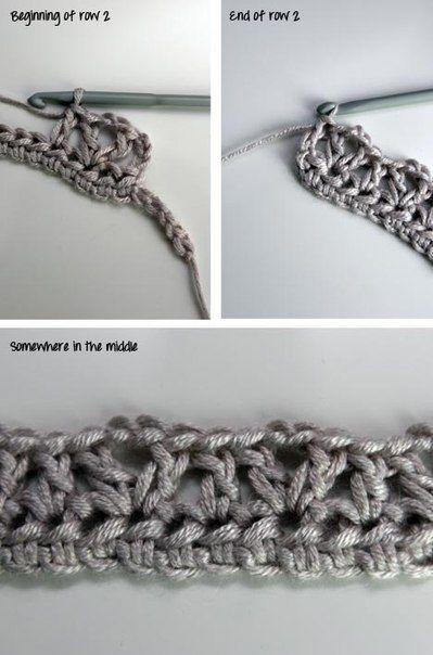 Вязаный воротник крючком