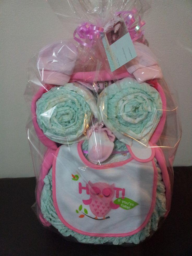 Baby Girl's Owl Nappy Cake