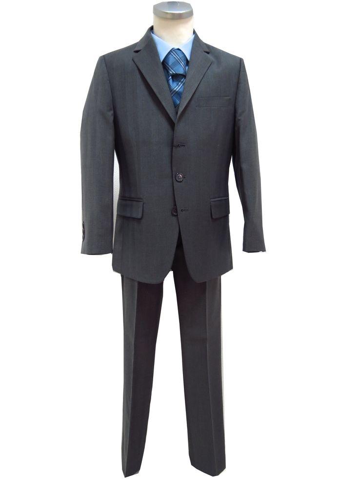 3-delige bruidsjonker pak in de kleur antraciet. Het pak is gemaakt van luxe stof met een italiaanse pasvorm. Het pak bestaat uit: een broek met mooie smalle rechte pijpen en insteekzak achter, jasje met 3 knopen, 2 splitten aan de achterzijde en een gilet met 5 knopen.