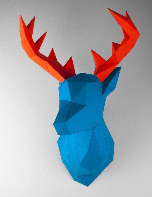 Fancy - Blue Orange Deer Papertrophy
