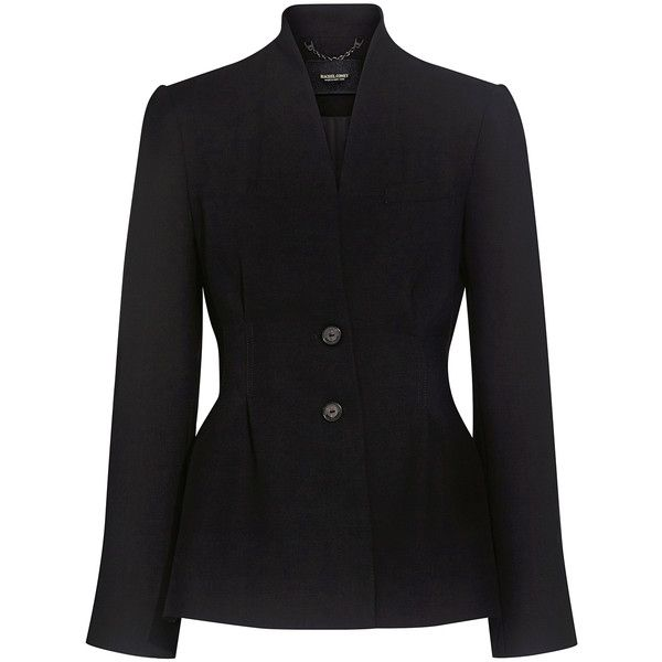 Rachel Comey - Curve Blazer ($495) ❤ liked on Polyvore featuring outerwear, jackets, blazers, single breasted jacket, lapel blazer, shiny blazer, rachel comey blazer and shiny jacket