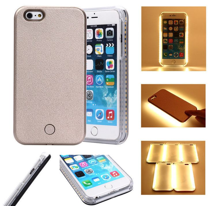 Luxury LED Light Up Selfie Case iPhone 7/7plus with battery backup | iPhone 7 Accessories | Pinterest | Iphone, Iphone cases and Iphone 7