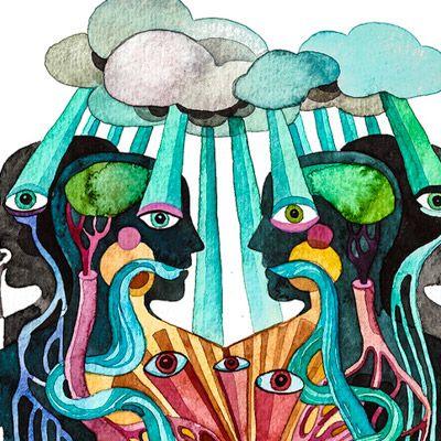 Gel Jamlang é uma artista que cria ilustrações surreais em aquarela e acrílico que geralmente apresentam o corpo humano. Combinando realismo e imagens bizarras, algumas de suas ilustrações apresentam formas e elementos animais.