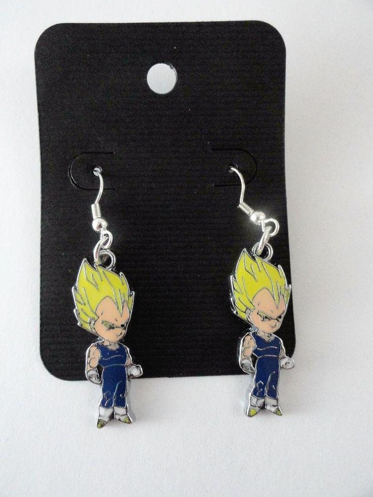 Super Saiyan Vegeta Earrings Dangle Dragonball Z #DBZ