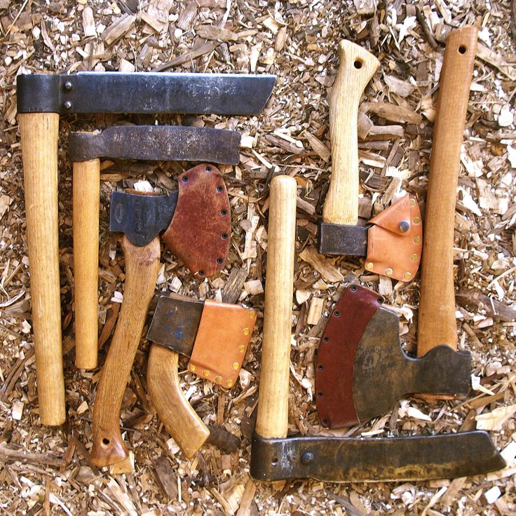 Robin Fawcett's Axes & Froes.  Essential for Green Woodwork.  The axes are razor sharp - the froes aren't