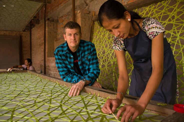 Silk workshop in Katmandu