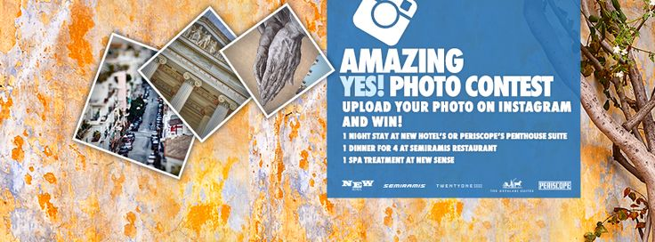 Enter our Instagram contest by uploading your photo using the hashtags #Yes2Athens #YESGR ! See all participants here https://www.facebook.com/YesHotels/app_1559499907672973 #YesHotels #contest #Instagram