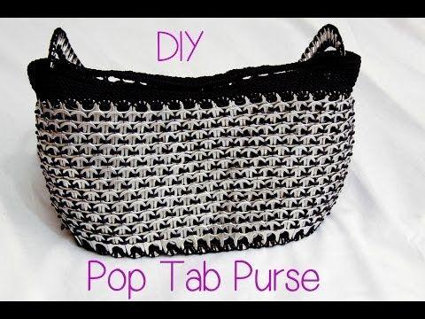 ▶ DIY: Aluminum Pop Tab Handbag part 1 - YouTube