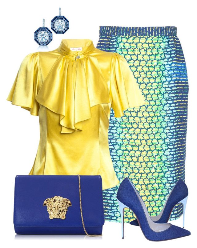 Sin título #1245 by marisol-menahem on Polyvore featuring мода, Peter Pilotto, Christian Louboutin, Versace and Tiffany & Co.