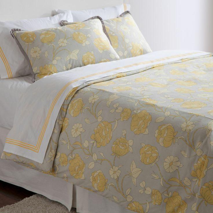 grey and yellow bedding mattie floral duvet cover ethan allen us