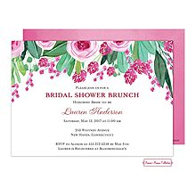 Pink Floral Bridal Shower Luncheon Brunch Outdoor Invitation 30% off - Little Angel Announcements