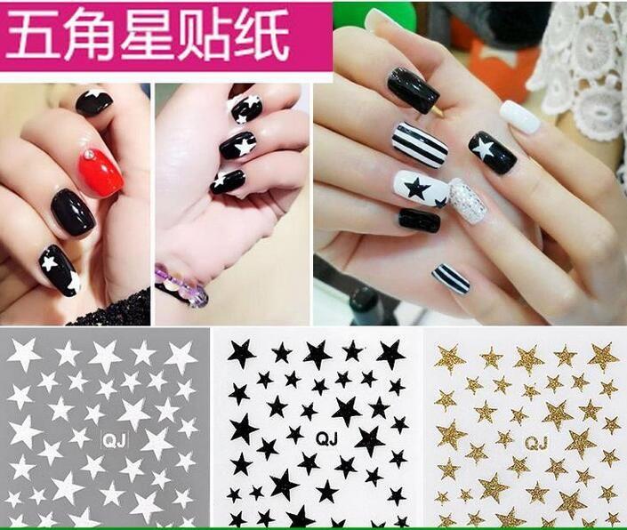 3D cute stars nail stickers glitter star ornaments nail art tool nail  accessories