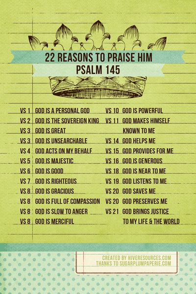 22 Reasons to Praise Him FREE PRINTABLE by Hive Resources