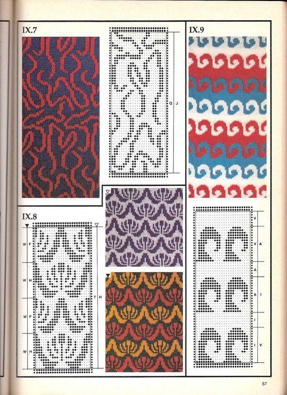 Машинное вязание - жаккард Машинное вязание - жаккард #56