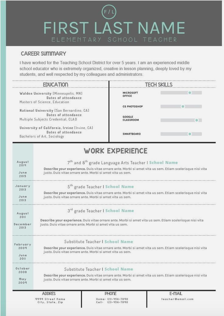 Resume Template Free Resume Templates That Stand Out Best Sample Brilliant Ideas Resumes That Stand Teaching Resume Teacher Resume Template Teacher Resume