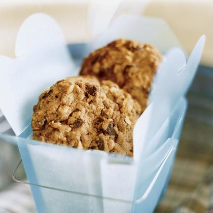 This chunky oatmeal-chocolate chip cookie recipe features the addition of peanut butter and was developed by an award-winning dessert...