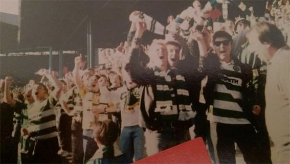 The Jungle after scoring against Rangers - early 90s.