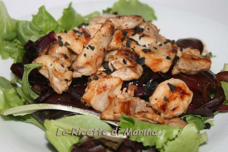 Tagliata di pollo con cipolle al balsamico: Chicken, Recipe, Al Balsamico, Cipol Al, Recipes, Cipolle Al, Marines, Con Cipolle
