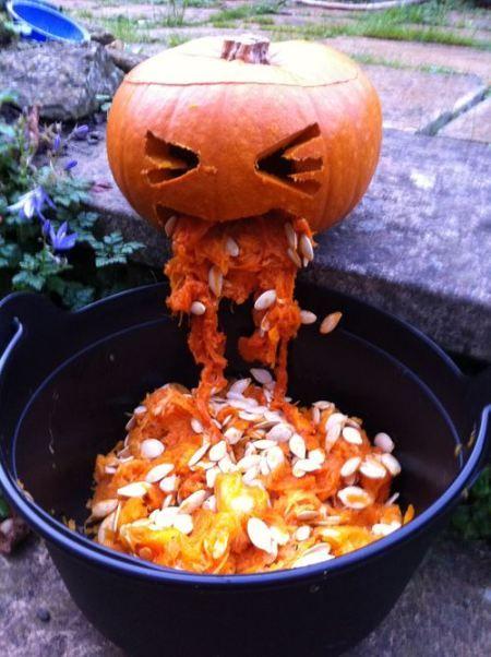 barfing pumpkin, puking pumpkin