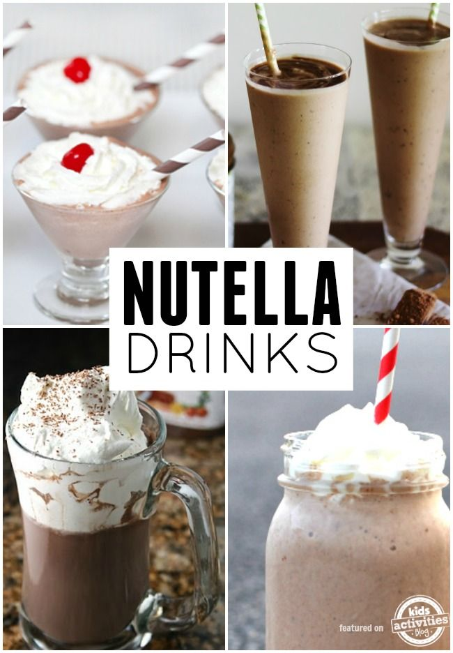 Nutella drinks! These look so good.