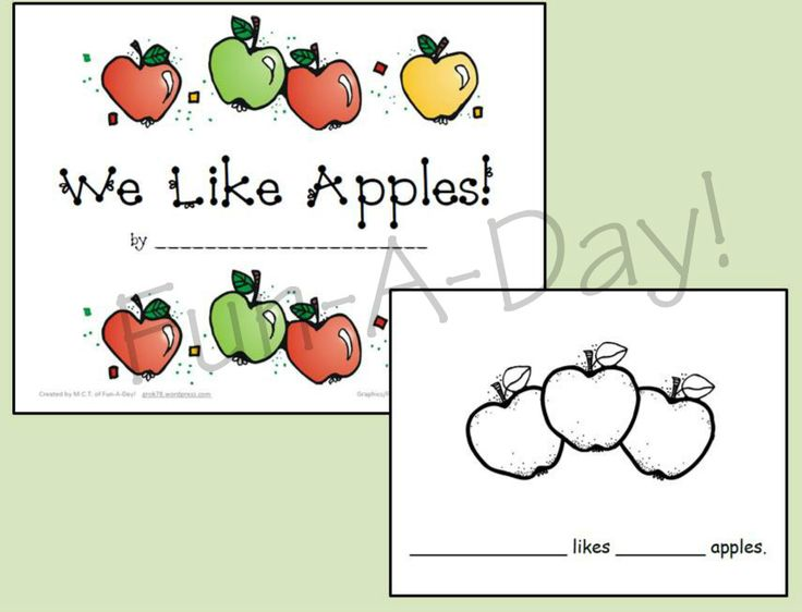 Preschool Apple Tasting & Class Book