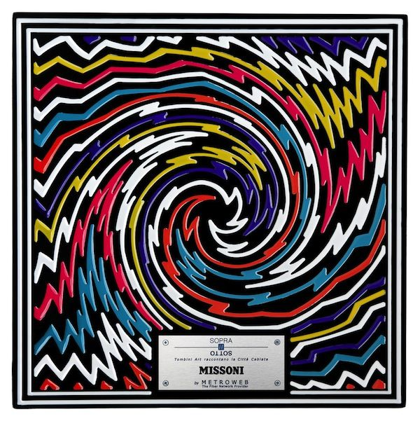 """Missoni - Italy's most important fashion designers take their craft from the catwalk to the streets by way of innovative art installation """"Above the Below – Manhole Cover Art and the Wired City."""" The project, which includes the likes of Prada, Pucci, Missoni and other Italian fashion powerhouses, features 24 decorated manhole covers installed along Milan's central streets of Via Montenapoleone and Via Sant'Andrea."""