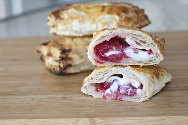 Sweet-and-Sour Cherry Turnovers With Goat Cheese Cream Recipes ...