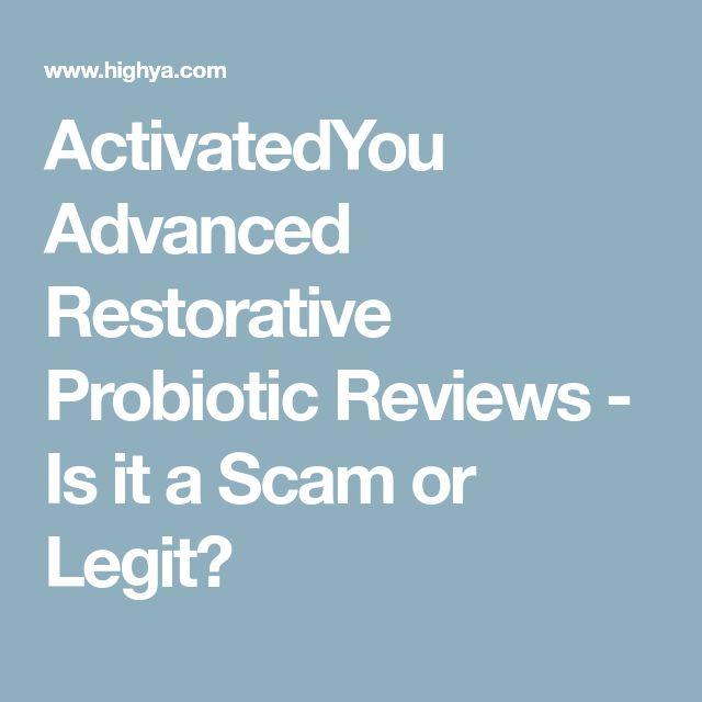 ActivatedYou Advanced Restorative Probiotic Reviews - Is it a Scam or Legit?
