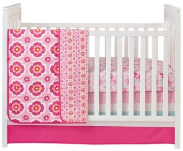 Happy Chic Baby by Jonathan Adler fuses colorful patterns & great design. This pink crib bedding set is just adorable! @NoJo