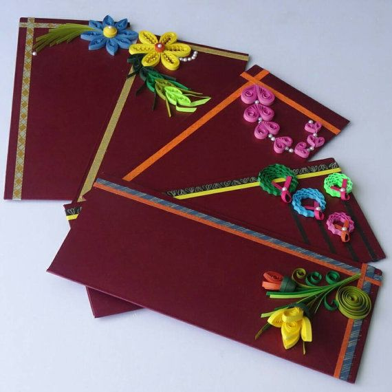 Check out this item in my Etsy shop https://www.etsy.com/listing/241262738/beautiful-quilling-decorative-envelopes