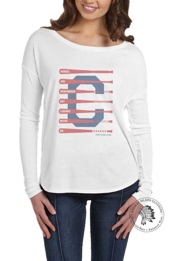 "Cleveland Baseball ""Legends Never Die"" - Women's Flowy Long Sleeve"
