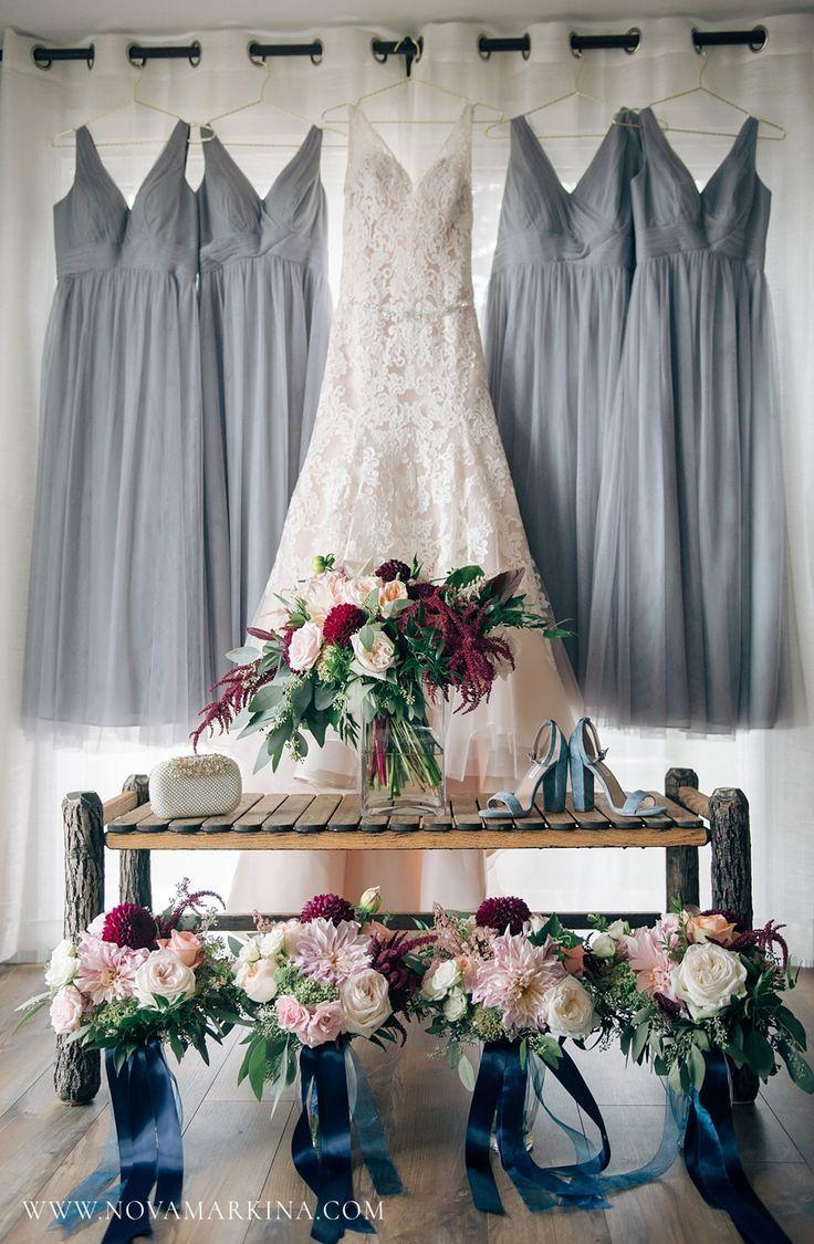 Bouquets élaborés et belles robes grises || Mariage Petrov || H … – Hochzeitsfotografie