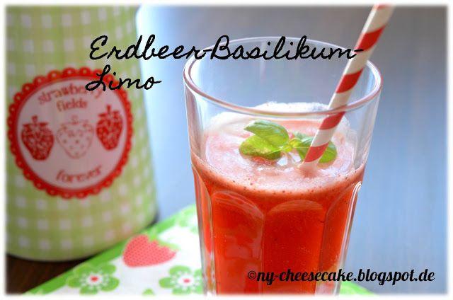 ...like a piece of New York Cheesecake...: Erdbeer-Basilikum-Limonade - ich sag' DANKE