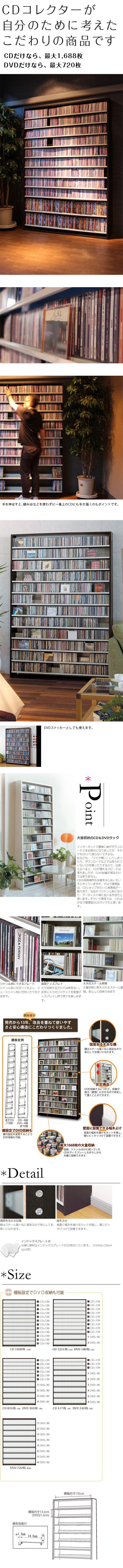 【楽天市場】CD屋さんのCDラック 大容量 CD1,668枚収納可能 インデックスプレート20枚付き 10P09Jan16:収納家具のイー・ユニット