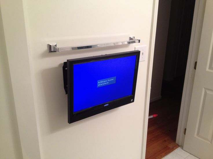 Bathroom TV wall mount installation Wall mounted TV in the bathroom TV on  the wall in
