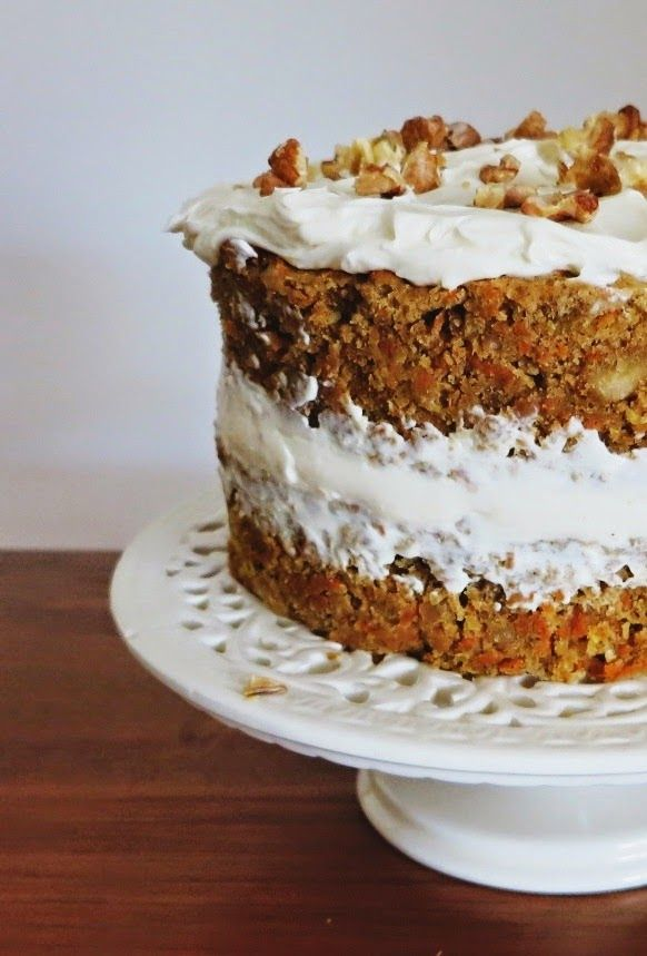 Friendly Little Kitchen: Celebration Carrot Cake with Cream Cheese Icing