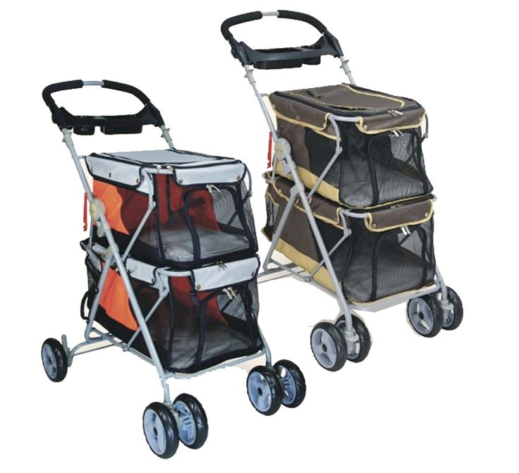 new design pet stroller for 2 dogs load 25kg dog pushchair pramdoggy