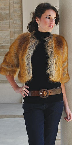 fabulous furs; faux fox  even this is nice