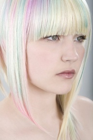 Pastel hair. Love these colours together