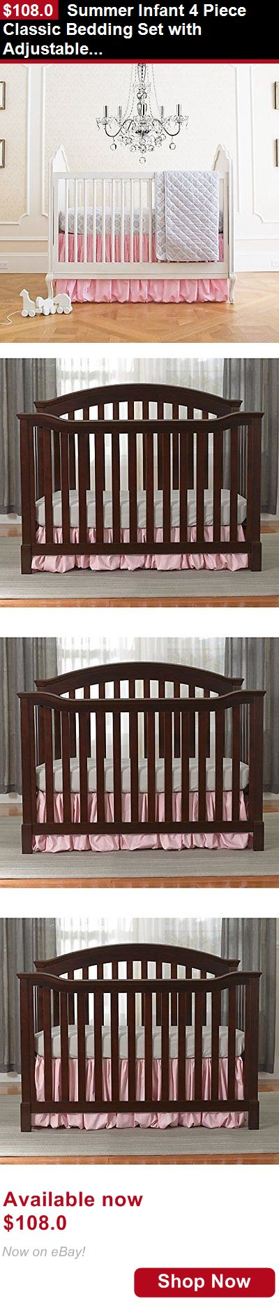 Other Nursery Bedding: Summer Infant 4 Piece Classic Bedding Set With Adjustable... BUY IT NOW ONLY: $108.0