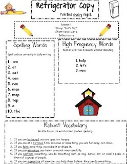 great idea to place inside students homework folders.