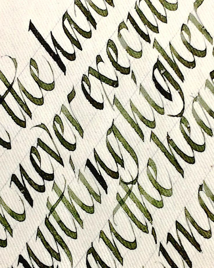 My new olive ink #sachinspiration #calligraphy #handlettering #calligraphymasters #italic