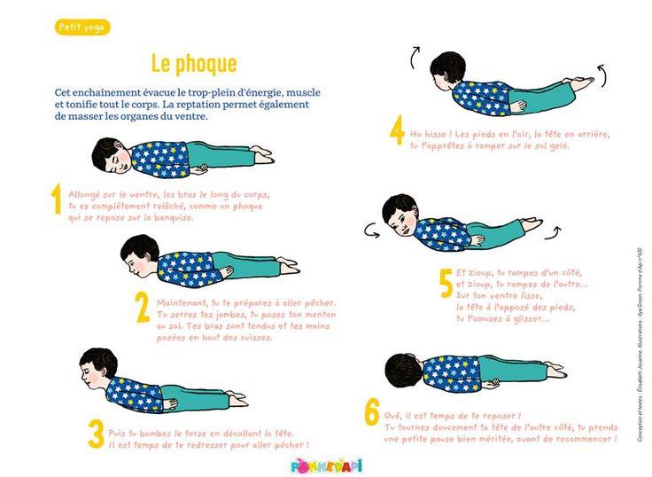 Petit yoga de Pomme d'Api : le phoque